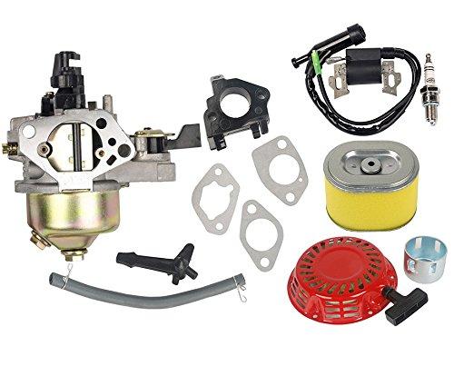 oxoxo 16100-zf6-v01Vergaser Carb Kit mit Air Filter Zündspule Recoil Starter für Honda GX340GX39011HP 13HP Motor