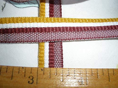 College Colors Flat x 3 Piping Trim Tape bias Gold Cord Lip 2
