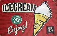 メタリックレトロ錫マークデコレーションアイスクリームスナック菓子テーマはキッチンファミリーレストランバーバーコーヒーレトロアートマーク12「X8」
