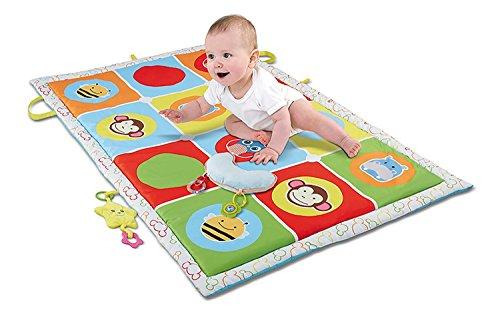 Haehne Krabbeldecke - Große Baby Aktivität Spielen Matte, Kinder Kriechende Pädagogische Spielzeug Spielteppich Spielmatte Baby Teppich für Lernen Spiel Weich Gepolstert, 145*90cm