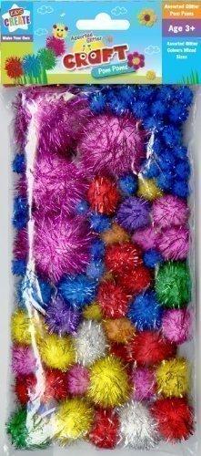 Kids Create - Pompom A Paillettes Assortiment De Taille/Couleur Boule Loisirs