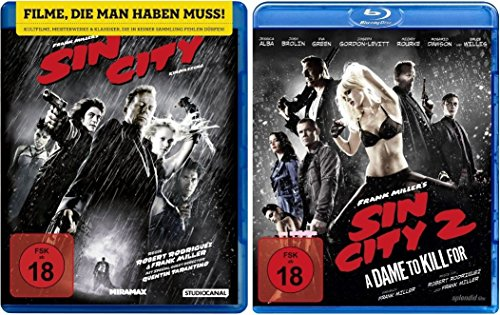 Blu-Ray Bundle Sin City 1+2 dvd Set I&II Fsk 18, Jessica Alba