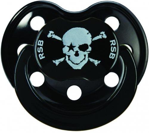 Rock Star Baby Chupete de silicona de calavera pirata