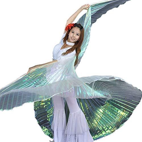 Calcifer, Isis-Flügel für orientalischen Tanz, ägyptisches Tanzkostüm-Zubehör (mehrfarbig und transparentes Weiß)