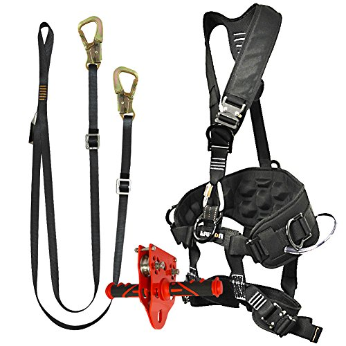 Fusion Climb Pro Backyard Zip Line Kit Harness Lanyard Trolley Bundle FK-A-HLT-40
