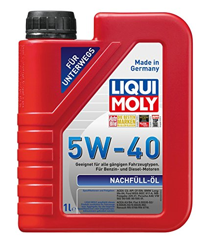 LIQUI MOLY 1305 Nachfüll Öl 5 W-40 1 L