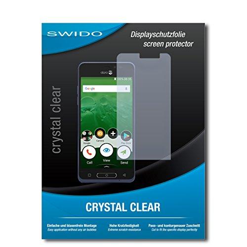 SWIDO Schutzfolie für Doro 8035 [2 Stück] Kristall-Klar, Hoher Festigkeitgrad, Schutz vor Öl, Staub & Kratzer/Glasfolie, Bildschirmschutz, Bildschirmschutzfolie, Panzerglas-Folie