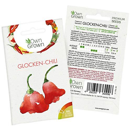 Chilisamen Glockenchili: 5 Premium Glocken Chili Samen zum Anbau von Chili Pflanzen für Balkon, Kübel und Garten – Glockenpaprika Samen für frische Chilipflanzen – Chili Samen scharf von OwnGrown