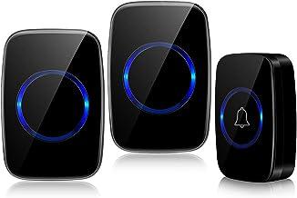 Wireless Doorbell, Ringer Door Bell Chimes 1000ft Long Range Waterproof Doorbell Kit with 1 Battery Operated Push Button T...