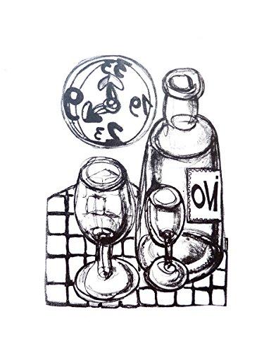 Dibujo Grabado LITOGRAFÍA La hora