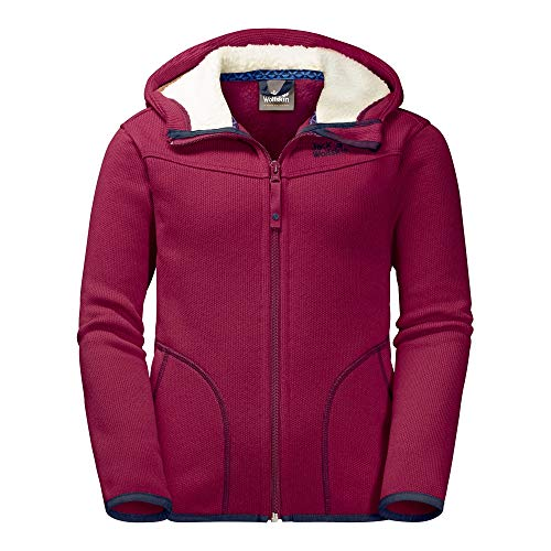 JACK WOLFSKIN Fleecejacke K NAVAJO VALLEY, dark ruby, 164, 1606971-2501164
