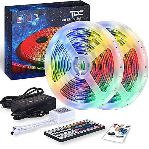 Striscia LED 10 Metri | Luci Led Camera da Letto con Telecomando | Strisce Led Adesive con Led...