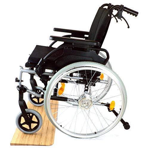 Türschwellenrampe aus Holz für Rollstühle - Maßgefertigt (Höhe 35 mm, Baubuche natur (geschliffen))