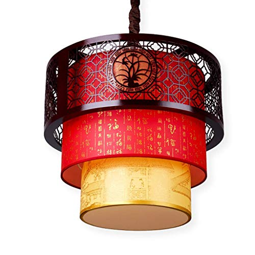 N/Z Home Equipment Pendant Light Chinese Antique Wooden Lantern PVC Material Shade Indoor Lighting Pendant Lights