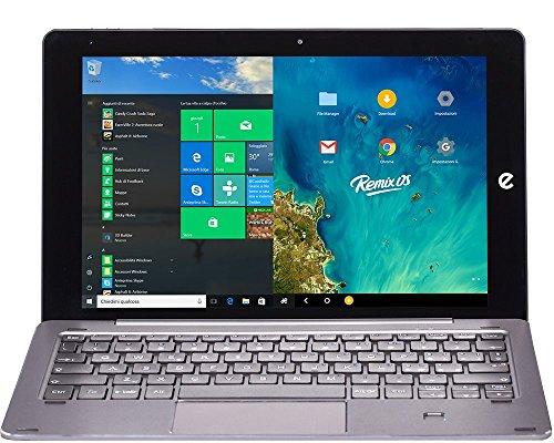 'e-tab bpl64dr3ek Tablet PC, Pantalla LCD/LED de 10.1(Intel Atom z8350, RAM 4GB, Plata