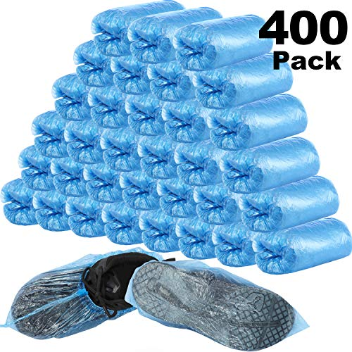 Polyproplyene Disposable Boot /& Shoe Covers Mens And Womens Shoe Covers With Anti-Slip Tread And Fabric XL 300 Count One Size Fits Most 150 Pairs