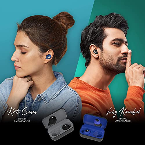 Boult Audio AirBass PowerBuds True Wireless Bluetooth Earbuds with 120 Hours Total Playtime, Inbuilt Powerbank, Fast Charging, Touch Controls, IPX7 Waterproof & Type C Port (Black)