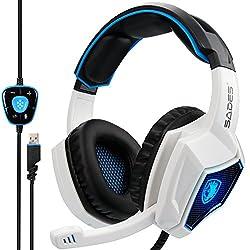 top 10 blackweb 7 1 surround sound pc gaming headset Sades SA902 7.1 Channel USB Virtual Surround Sound System Wired PC Gaming Headset On-Ear Headphones