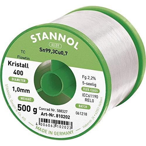 Lötzinn 500 Gramm ø1mm S-Sn95Ag4Cu1//713 Lötdraht bleifrei von Stannol