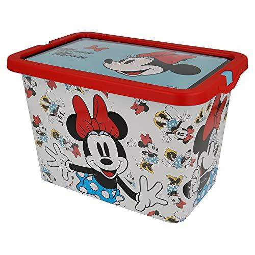 Stor-02804 Disney Boîte de Rangement Click 7 l Minnie Mouse, ST-02804, Multicolore, Mediano