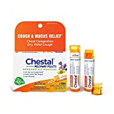 Boiron Chestal Cough and Mucus Relief for Adults, 2 Tubes, 80 Meltaway Pellets Each