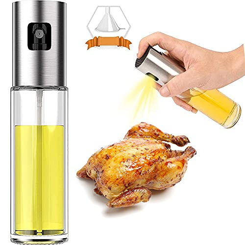 Oil Sprayer Bottle, 100ml Oil Spray Versatile Glass ,Olive Oil Sprayer Mister,Olive Oil Spray for cooking, Salad, BBQ, Kitchen Baking, Roasting