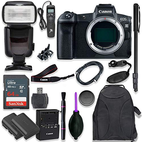 Buy Bargain Canon EOS R Mirrorless Digital Camera Body Only Kit with Professional TTL Flash, Prot Ba...