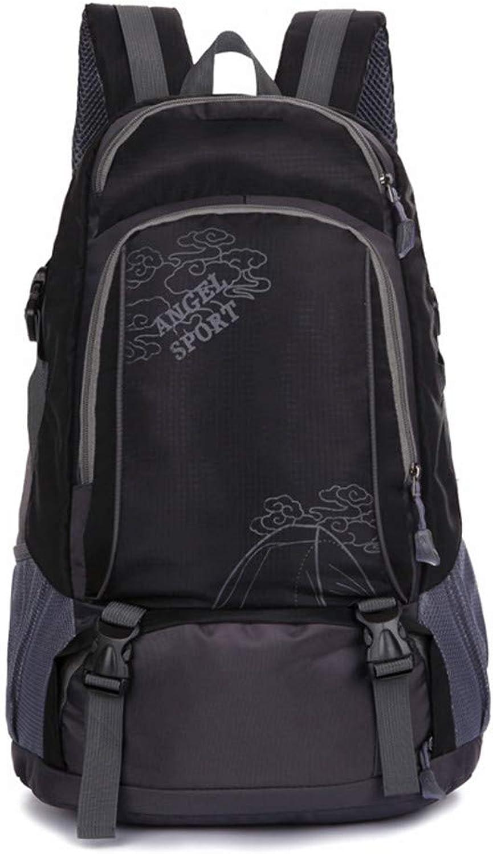 Outdoor-Wanderrucksack große Kapazität Studententasche Freizeitreisetasche, 35x50x20cm, schwarz B07PB9G17Z  Hochwertig
