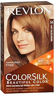 Revlon ColorSilk Hair Color 54 Light Golden Brown 1 Each (Pack of 6)