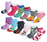 Differenttouch 12 Pairs Pack Women Low Cut Colorful Fancy Design Ankle Socks (9-11, Assorted Design #120) -  SUMONA
