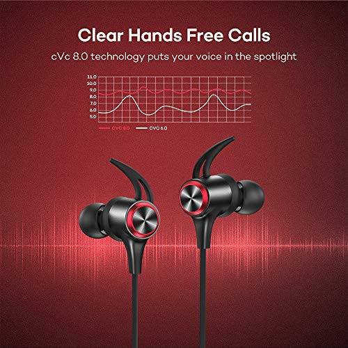Wireless Headphones, Upgraded Boltune Bluetooth 5.0 aptX HD CVC 8.0 Noise Cancellation IPX7 Waterproof 16Hrs Playtime Earbuds, 3EQ Settings with Magnetic Connection Earphones for Running Built-in Mic 3