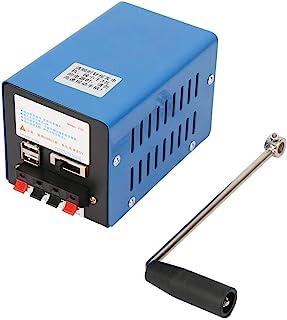 Generador manual de manivela , Generador portátil de alta potencia de carga manual Cargador USB Dinamotor de emergencia pa...