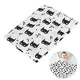 Newborn Baby Muslin Blankets Soft Cotton Bath Towel Swaddle Blanket Infant Swaddling Wrap for Baby Boys Girls (Color : Bat Man, Size : 110x110cm)