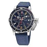 Nautica Correa de silicona de cuarzo de acero inoxidable para hombre, azul, 22 reloj casual (Modelo: NAPGLF008)