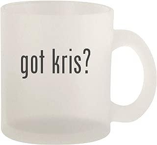 got kris? - Glass 10oz Frosted Coffee Mug