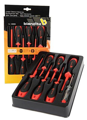 Bianditz 230905 Juego de 7 destornilladores Aislados Rectos-PH 1000V+Buscapolos