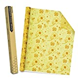 Alcoon Beeswax Food Wraps 1 Meter Roll 13 x 39 Inch Reusable Beeswax Wraps Eco-Friendly Sustainable Food Storage Wraps for Sandwich, Cheese, Fruit, Bread, Snacks (Flower Pattern)