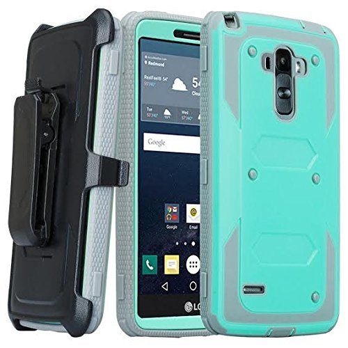 LG G Stylo Case, LG G Vista 2 Case, [Pro Guard Series] with Built-in [Screen Protector] Heavy Duty Full-Body Rugged Holster Case [Belt Swivel Clip][Kickstand] for LG G Stylo LS770/G Vista 2 (Teal)