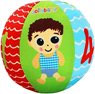 Baby Eyesight Training To Pursue Red Ball Baby Ball Toy Puzzle Early Education Cloth Ball Catching Ball 0-3 Months 1 Year Old