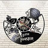 Reloj De Pared Brave Little Bread Maker Disco De Vinilo Reloj De Pared Led Retro Reloj De Pared De Acrílico Silencioso Decoración De La Habitación De Los Niños Reloj Reducción De Iluminación 30 × 30C