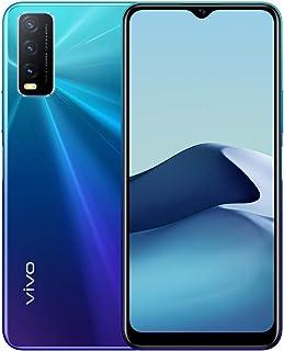 موبايل فيفو Y20 بشريحتين اتصال 4 جيجا ذاكرة رام، 64 جيجا 4G LTE مع مكبر صوت بلوتوث، ازرق غامق