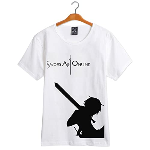 GK-O Anime Sword Art Online SAO Kirito T-Shirt Short Sleeve Shirt Cosplay