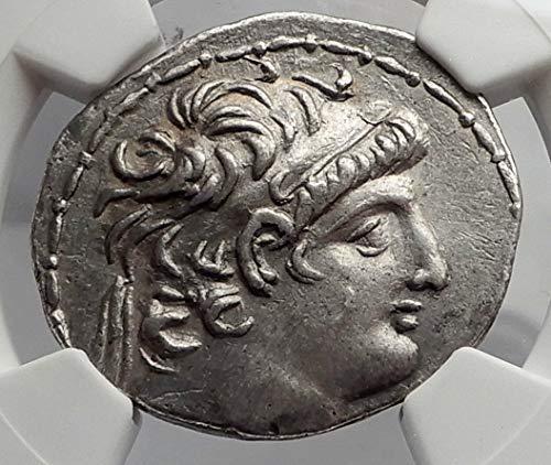 1000 GR ANTIOCHOS VIII Grypos Seleukid Ancient AR Greek T Tetradrachm Ch XF NGC