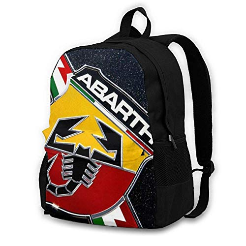 IUBBKI CHENWE Fiat 500 Abarth Logo Mochila clásica para Adultos Mochila de...
