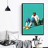 Rap Music Star Fashion Model Art Canvas Poster Wall decoración del hogar,Pintura sin Marco,40X60cm