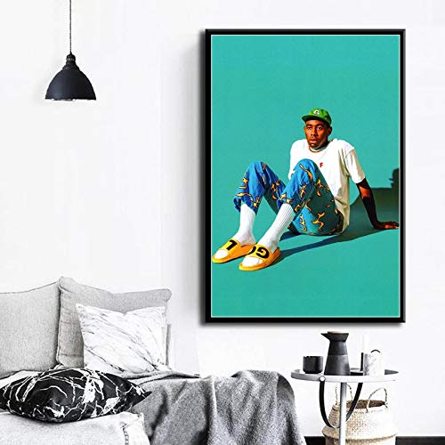 Rap Music Star Fashion Model Art Canvas Poster Wall decoración del hogar,Pintura sin Marco,30X45cm