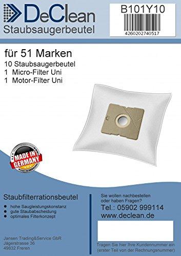 10 Staubsaugerbeutel DeClean Saugerfilterbeutel geeignet für AFK PS 1600W.1, 4, 6, 6NE
