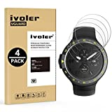 ivoler [4 Unidades] Protector de Pantalla para Ticwatch E/Ticwatch S Smartwatch, Cristal Vidrio Templado Premium