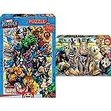 Educa Héroes Marvel Puzzle, 500 Piezas, Multicolor (15560) + Foto De Clase, Puzzle Infantil De 300 Piezas, A Partir De 8 Años (15908)