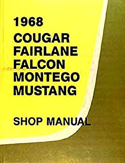 1968 MERCURY COUGAR COMPLETE FACTORY REPAIR SHOP & SERVICE MANUAL - INCLUDES: XR-7, GT, Base, Coupe, J Code,